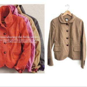 J.Crew Bella Herringbone Jacket Size 0